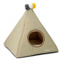 Cat Tent Piramido | Beige
