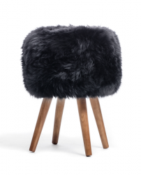 New Zealand Sheepskin Stool | Black