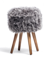 New Zealand Sheepskin Stool | Grey