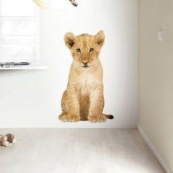 Wandaufkleber Safari-Freunde | Löwenjunge XL