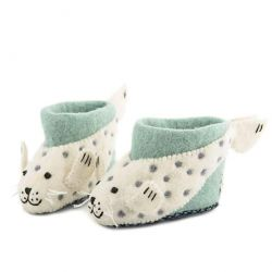 Children's Slippers Sally Seal | Green