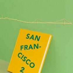 Wanddekoration San Francisco Skyline Klein | Gold