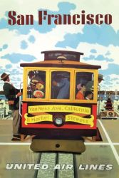Poster San Francisco United Air Lines 2 | 30 x 40 cm