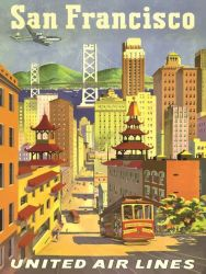 Poster San Francisco United Airlines | 40 x 60 cm