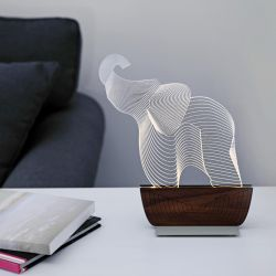 Table Lamp 'Save an Elephant'