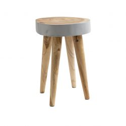 Hocker Organic | Grau