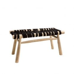 Macrame Bench Cross | Black