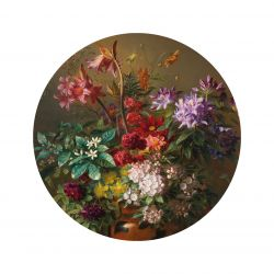 Wandtapete Kreis Golden Age Flowers