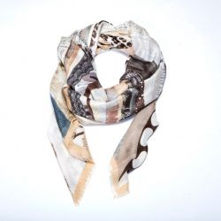 "Scarf ""Don't Worry"" Grey"