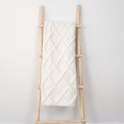Plaid Marsipan 130 x 156 cm | Laine d'Alpaga Blanche