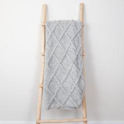 Plaid Marsipan 130 x 156 cm | Laine d'Alpaga Grise