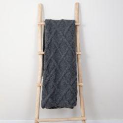 Plaid Marsipan 130 x 156 cm | Laine d'Alpaga Gris Foncé