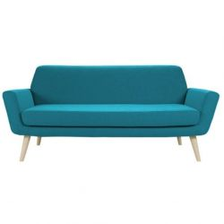 Scope 2P Sofa- Felt Turquoise