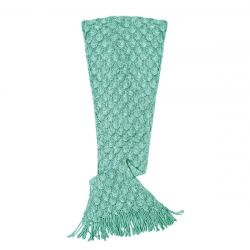 Knit Mermaid Tail Blanket (Womens / Teen) | Seafoam