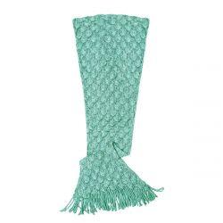 Knit Mermaid Tail Blanket (Womens / Teen) | Seafoam