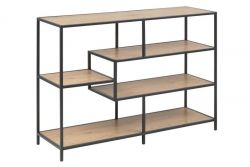 Bookcase Stanley Large | Oak / Black