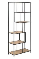 Bookcase Stanley High | Oak / Black