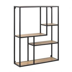 Bookcase Stanley 3 | Oak / Black