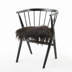 Isländischer Sitzbezug | Schwarz