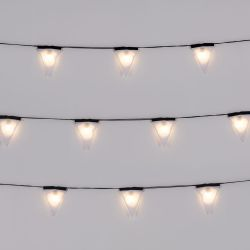 Light String Sagra 16 Lights | Black Wire