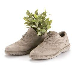 2er-Set Vasen Chaussures | Zement