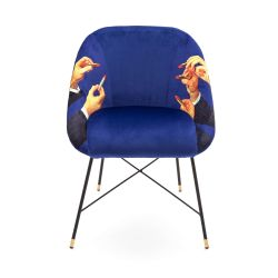 Padded Chair | Lipsticks Blue