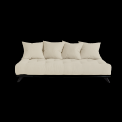 Sofa Senza | Black Frame + Beige Mattress