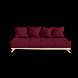 Sofa Senza | Natural Frame + Bordeaux Mattress
