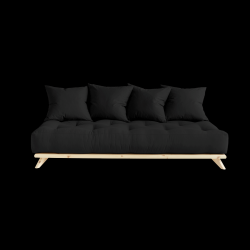Sofa Senza | Natural Frame + Dark Grey Mattress