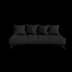 Sofa Senza | Black Frame + Dark Grey Mattress