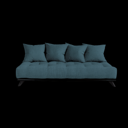 Sofa Senza | Black Frame + Deep Blue Mattress