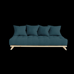 Sofa Senza | Natural Frame + Deep Blue Mattress