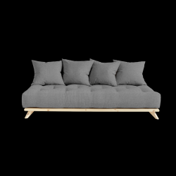Sofa Senza | Natural Frame + Granite Grey Mattress