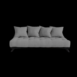 Sofa Senza | Black Frame + Granite Grey Mattress