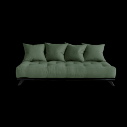 Sofa Senza | Black Frame + Olive Green Mattress