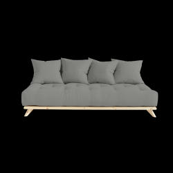 Sofa Senza | Natural Frame + Grey Mattress