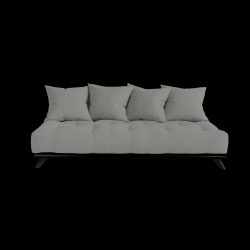 Sofa Senza | Black Frame + Grey Mattress