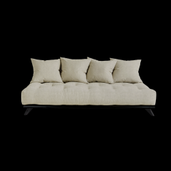 Sofa Senza | Black Frame + Linen Mattress