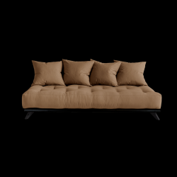 Sofa Senza | Black Frame + Mocca Mattress
