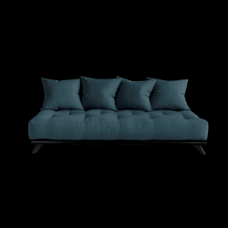 Sofa Senza | Black Frame + Petrol Blue Mattress