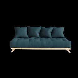 Sofa Senza | Natural Frame + Petrol Blue Mattress