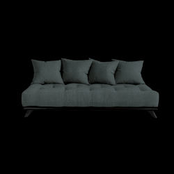 Sofa Senza | Black Frame + Slate Grey Mattress