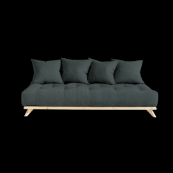 Sofa Senza | Natural Frame + Slate Grey Mattress