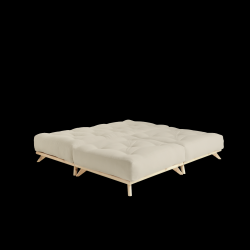 Pouf Senza | Natural Frame + Beige Mattress