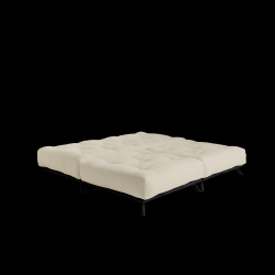 Pouf Senza | Black Frame + Beige Mattress