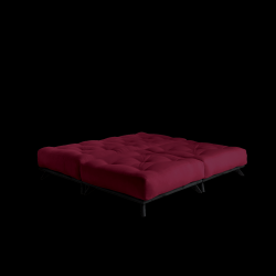 Pouf Senza | Black Frame + Bordeaux Mattress