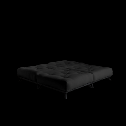 Pouf Senza | Black Frame + Dark Grey Mattress