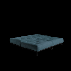 Pouf Senza | Black Frame + Deep Blue Mattress