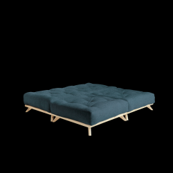 Pouf Senza | Natural Frame + Deep Blue Mattress