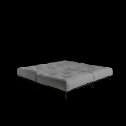Pouf Senza | Black Frame + Granite Grey Mattress